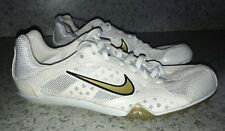 NEW Womens Sz 6 NIKE ZOOM W 2 White Gold Black Middle Distance Track Spike Shoes