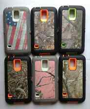 NEW!!! HIGH QUALITY CAMO CASE W/ Built in Screen Protector For Samsung Galaxy S5