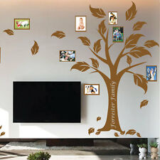 Personalised Family Tree Photo Frames Art Wall Quote Stickers Wall Decals