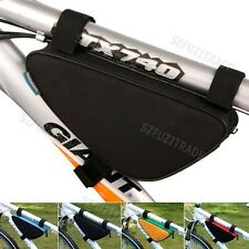 MTB Mountain Bicycle Bike Cycling Triangle Front Frame Bag Pannier Package Pouch