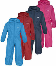 Trespass BUTTON Suit All-in-one Rainsuit Waterproof Breathable Kids Babies