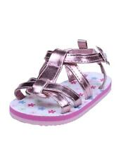 Girls Infant Baby Metallic Summer Floral Sandals with Ankle Strap by Gerber