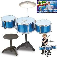 Kids My First Drum Set with Bench Childrens Boys Girls Play Set Gift Toy Game