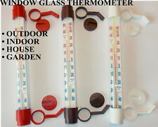 WINDOW GLASS THERMOMETER OUTDOOR INDOOR HOUSE GARDEN GREENHOUSE
