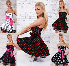 SEXY PETTICOAT* KLEID* ROCKABILLY* DRESS* 50er* PUNKTE* UNTERROCK TÜLL 34-38