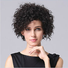 Full head Women Lady Spicy girl short full wig wigs Real natural human hair Mama