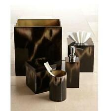 Faux Horn TISSUE HOLDER/LOTION SOAP DISPENSER Brown Lacquer Bath Accessories