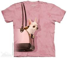 THE MOUNTAIN HAND BAG CHIHUAHUA DOG ANIMAL PURSE YOUTH KIDS TEE T SHIRT S-XL