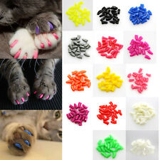 20pcs+1 Glue Colorful Soft Pet Dog Cat Kitten Paw Claw Control Nail Caps Cover