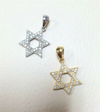 Sterling Silver 925/Gold Plated Cubic Zirconia Star of David Variations Pendant