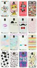 Ultra Slim Illustration TPU Soft Gel Protector Back Case Cover For Apple/Samsung