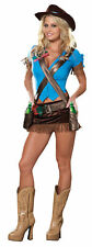 Saloon Girl Adult Womens Sexy Costume DreamGirl Cowboy Cowgirl Rodeo Halloween
