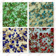 MIXED Sizes Point back Rhinestones Crystal Glass Chatons Strass 50g 720+ps