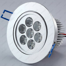 10*7w LED Recessed Ceiling Light Fixture Lamp Mall Restaurant Canteen Dimmable/N