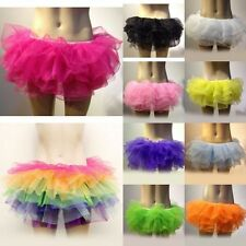 Adult New Dancing Tutu Layered Organza Lace up Rainbow Skirt Multi-color Choice