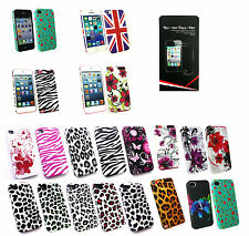 Stylish Hardback clip on  Case Cover for IPhone IPod models with screen guard