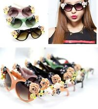 Women's Travel Drive Sunglasses Ceramic Flowers Individuality Suncare Glasses