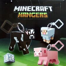 "MINECRAFT 3D  HANGERS 3"" FIGURES - CHOOSE HANGER FOR  KEYCHAIN BAG BELT CLIP"