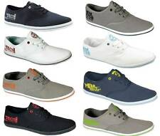 New Henleys Mens Lace Up Canvas Shoes pumps Sz UK 7-12 Plimsolls casual trainers