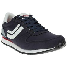 New Mens Jack Jones Blue West Side Canvas Trainers Running Style Lace Up