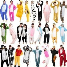 Unisex Adult Pajamas Kigurumi Cosplay Costume Animal Onesie Sleepwear Dress #