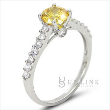 WOMEN'S ROUND CUT AAA CZ 925 STERLING SILVER ENGAGEMENT WEDDING RING SZ 5-9 GIFT