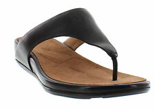 FITFLOP Banda Black Leather Sandals