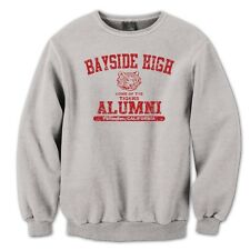 BAYSIDE HIGH ALUMNI cool funny retro tv show school costume SWEAT-SHIRT GRAY