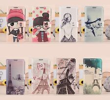 Cute Painting Wallet Flip Case Cover for Samsung Galaxy Core Plus G350 / G3502