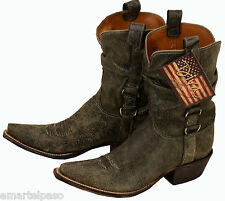 173 New LUCCHESE Diva DV4000 Brown Aviator Calf Slouch Western Boot $400.00