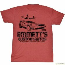 Back To The Future Emmett's Custom Autos Officially Licensed Adult Shirt S-2Xl