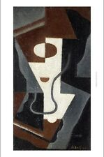 "JUAN GRIS ""Glass"" abstract print ON CANVAS choose SIZE, from 55cm upwards, NEW"