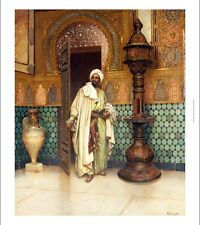 """RUDOLF ERNST """"An Arab In A Palace"""" CANVAS PRINT ! choose SIZE, from 55cm up, NEW"""
