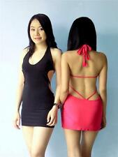 Strappy Backless Halter Stretch Clubbing Cocktail Party Bodycon Mini Dress Sexy
