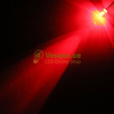 20 LED 3mm rouge 6000mcd 20 ° LED rouge PC Meubles Luminaires Model auto 3V-24V