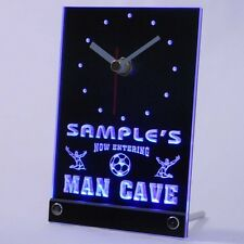 tncqd-tm Personalized Custom Man Cave Soccer Bar Beer Neon Led Table Clock