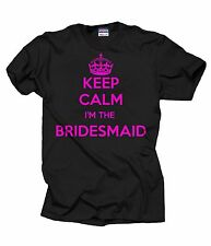 Keep Calm I'm Bridesmaid T-Shirt Wedding Tshirt Tee Shirt Keep Calm Style
