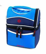 Insulated Lunch Bag Cooler,Dual compartment tote Lunch bagTop bottle compartment