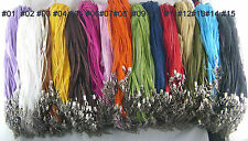 100x Wholesale Organza Voile String Ribbon Cord Necklace Lobster Clasp Chain New