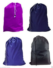 New Heavy Duty Sized Nylon Laundry Bag Great for College Four Colors Available