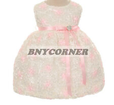 Baby Infant Flower Embroidered Flowers Girls Dresses Pageant Church Easter Prom