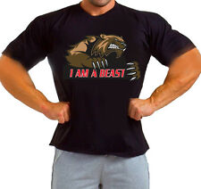 I AM A BEAST mode Gym Motivation MMA  Hooligans Fighting Workout TSHIRT Tee