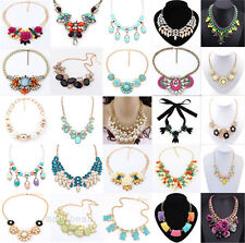 New Fashion Charm Jewelry Chain Crystal Choker Chunky Statement Bib Necklace Hot