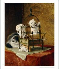 "HENRIETTE RONNER-KNIP ""Caged Kittens"" CANVAS PRINT ! various SIZES available"