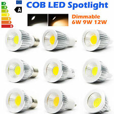 Dimmable 6W 9W 12W MR16 GU10 E27 Ultra Brillante CREE LED COB Bombilla Spotlight
