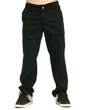 Sullen Clothing Mens Black Skull Tattoo Cargo Pocket Chino Casual Pants Trousers