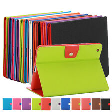 New For iPad 2/3/4Luxury Book Double-Color Magnetic Flip Leather Case Cover Skin