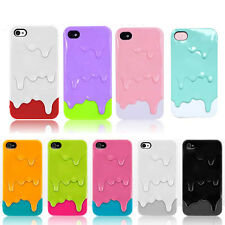 2014 3D 5color Melt Ice-Cream Skin For Apple iPhone 5 5S Protect Hard Case Cover