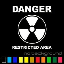 Danger Restricted Area Sticker Vinyl Decal - Nuclear Zone Skateboard Car Window