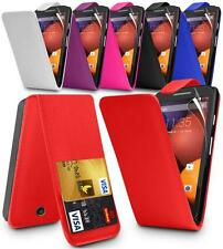 NEW FLIP LEATHER SERIES CASE COVER FOR MOTOROLA MOTO E & SCREEN PROTECTOR